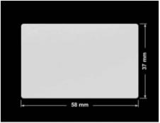 PLOMBA SREBRNA PÓŁPOŁYSK PLASTER MIODU T-441M2 prostokąt 58x37mm