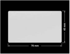PLOMBA SREBRNA PÓŁPOŁYSK PLASTER MIODU T-441M2 prostokąt 76x45mm
