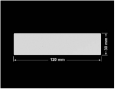 PLOMBA SREBRNA PÓŁPOŁYSK PLASTER MIODU T-441M2 prostokąt 120x30mm