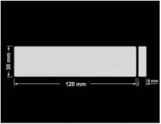 PLOMBA SREBRNA PÓŁPOŁYSK PLASTER MIODU T-441M2 prostokąt x2 120x30mm-30x8
