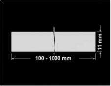 PLOMBA SREBRNA PÓŁPOŁYSK PLASTER MIODU T-441M2 banderola 100x11mm