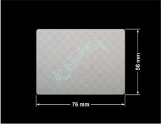 PLOMBA VOID SREBRNA PÓŁMAT SZACHOWNICA D-401K prostokąt 76x56mm naklejona na czarnym