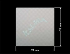 PLOMBA VOID SREBRNA PÓŁMAT SZACHOWNICA D-401K  kwadrat 76x76mm naklejona na czarnym