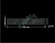PLOMBA VOID TRANSPARENT POŁYSK D-34A02  dwa prostokąty 120x20mm-20x8mm naklejona na czarnym