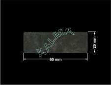 PLOMBA VOID TRANSPARENT POŁYSK SZACHOWNICA KARO D-44AC2  prostokąt 60x20mm naklejona na czarnym
