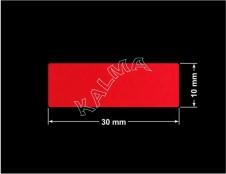 PLOMBA VOID CZERWONA POŁYSK VOID D-314  prostokąt 30x10mm naklejona na czarnym