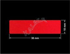 PLOMBA VOID CZERWONA POŁYSK VOID D-314  prostokąt 38x10mm naklejona na czarnym