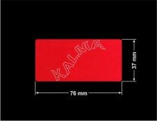 PLOMBA VOID CZERWONA POŁYSK VOID D-314  prostokąt 76x37mm naklejona na czarnym