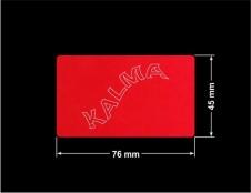 PLOMBA VOID CZERWONA POŁYSK VOID D-314  prostokąt 76x45mm naklejona na czarnym