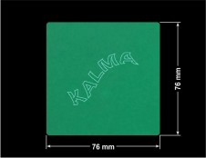 PLOMBA ZIELONA MAT VOIDOPEN A-34HV3 kwadrat 76x76mm naklejona na czarnym