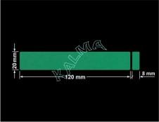 PLOMBA ZIELONA MAT VOIDOPEN A-34HV3 dwa prostokąty 120x20mm-20x8mm naklejona na czarnym