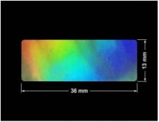 PLOMBA VOID HOLOGRAFICZNA TĘCZA PLASTER MIODU D-150M prostokąt 36x13mm