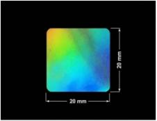 PLOMBA VOID HOLOGRAFICZNA TĘCZA PLASTER MIODU D-150M kwadrat 20x20mm
