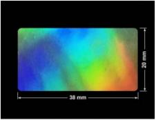 PLOMBA VOID HOLOGRAFICZNA TĘCZA PLASTER MIODU D-150M prostokąt 38x20mm