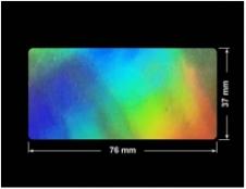PLOMBA VOID HOLOGRAFICZNA TĘCZA PLASTER MIODU D-150M prostokąt 76x37mm
