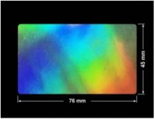 PLOMBA VOID HOLOGRAFICZNA TĘCZA PLASTER MIODU D-150M prostokąt 76x45mm