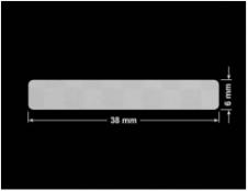 PLOMBA VOID SREBRNA PÓŁMAT SZACHOWNICA D-401K prostokąt 38x6mm