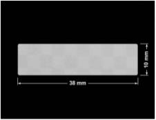 PLOMBA VOID SREBRNA PÓŁMAT SZACHOWNICA D-401K prostokąt 38x10mm