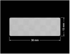 PLOMBA VOID SREBRNA PÓŁMAT SZACHOWNICA D-401K prostokąt 36x13mm