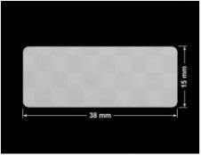 PLOMBA VOID SREBRNA PÓŁMAT SZACHOWNICA D-401K prostokąt 38x15mm