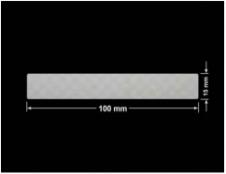 PLOMBA VOID SREBRNA PÓŁMAT SZACHOWNICA D-401K prostokąt 100x15mm