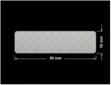 PLOMBA VOID SREBRNA PÓŁMAT SZACHOWNICA D-401K prostokąt 58x16mm