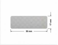 SREBRNA PÓŁPOŁYSK VOID T-34102 dwa prostokąty 120x20mm-20x8mm