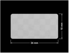 PLOMBA VOID SREBRNA PÓŁMAT SZACHOWNICA D-401K prostokąt 34x18mm