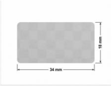 SREBRNA PÓŁPOŁYSK VOID T-34102 prostokąt 30x20mm