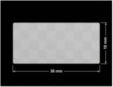 PLOMBA VOID SREBRNA PÓŁMAT SZACHOWNICA D-401K prostokąt 38x18mm