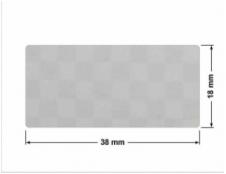 SREBRNA PÓŁPOŁYSK VOID T-34102 prostokąt 38x20mm