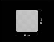 PLOMBA VOID SREBRNA PÓŁMAT SZACHOWNICA D-401K kwadrat 20x20mm