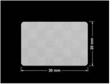 PLOMBA VOID SREBRNA PÓŁMAT SZACHOWNICA D-401K prostokąt 30x20mm