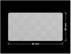 PLOMBA VOID SREBRNA PÓŁMAT SZACHOWNICA D-401K prostokąt 38x20mm