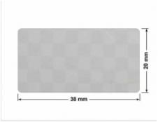 SREBRNA PÓŁPOŁYSK VOID T-34102 prostokąt 30x6mm