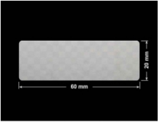 PLOMBA VOID SREBRNA PÓŁMAT SZACHOWNICA D-401K prostokąt 60x20mm