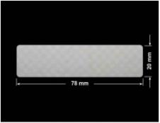 PLOMBA VOID SREBRNA PÓŁMAT SZACHOWNICA D-401K prostokąt 78x20mm