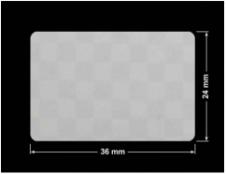 PLOMBA VOID SREBRNA PÓŁMAT SZACHOWNICA D-401K prostokąt 36x24mm