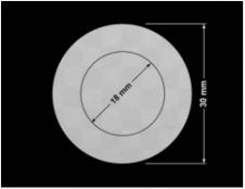 PLOMBA VOID SREBRNA PÓŁMAT SZACHOWNICA D-401K kółka 2w1 30mm-18mm