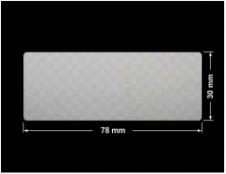 PLOMBA VOID SREBRNA PÓŁMAT SZACHOWNICA D-401K prostokąt 78x30mm