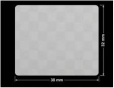 PLOMBA VOID SREBRNA PÓŁMAT SZACHOWNICA D-401K prostokąt 38x32mm