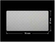 PLOMBA VOID SREBRNA PÓŁMAT SZACHOWNICA D-401K prostokąt 76x37mm