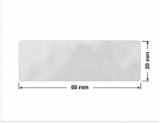 ELASTYCZNA JASNO-SREBRNA PÓŁPOŁYSK E-C11 prostokąt 38x10mm