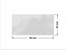 ELASTYCZNA JASNO-SREBRNA PÓŁPOŁYSK E-C11 prostokąt 36x24mm