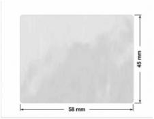 ELASTYCZNA JASNO-SREBRNA PÓŁPOŁYSK E-C11 prostokąt 38x15mm