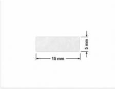 ELASTYCZNA JASNO-SREBRNA PÓŁPOŁYSK E-C11 prostokąt 38x32mm