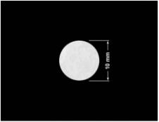 PLOMBA VOID BIAŁA POŁYSK PLASTER MIODU D-45KM kółko 10mm