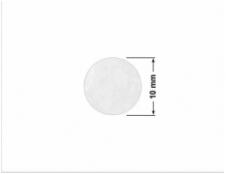 ELASTYCZNA CIEMNO-SREBRNA PÓŁPOŁYSK E-C31 prostokąt 60x20mm