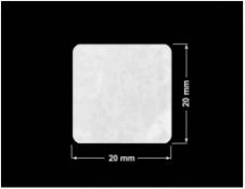 PLOMBA VOID BIAŁA POŁYSK PLASTER MIODU D-45KM kwadrat 20x20mm