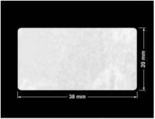 PLOMBA VOID BIAŁA POŁYSK PLASTER MIODU D-45KM prostokąt 38x20mm